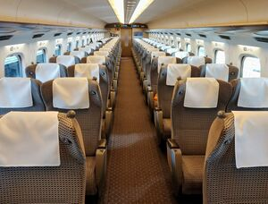 Shinkansen n700 green car.jpg
